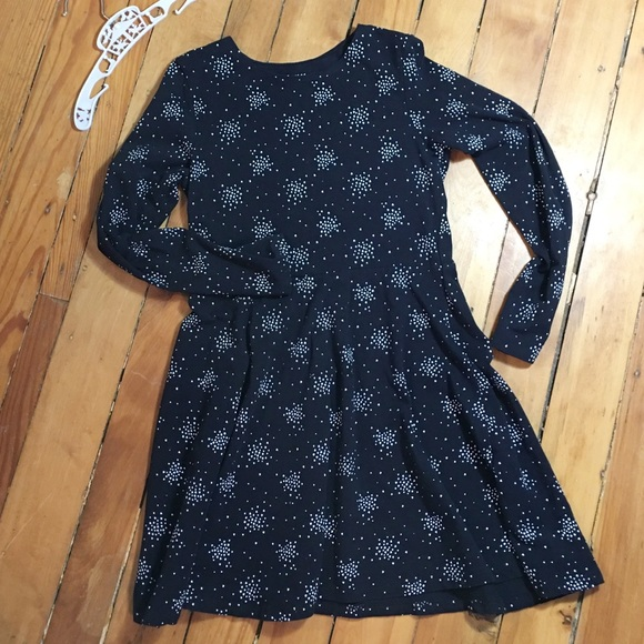 H&M Other - H&M Girls Black Dress with White Hearts 8-10 yr